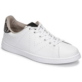 Zapatos Mujer Zapatillas bajas Victoria TENIS VEGANA SERPIENTE Blanco / Negro