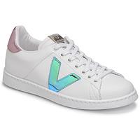 Zapatos Mujer Zapatillas bajas Victoria TENIS VEGANA VINI Blanco / Azul / Rosa