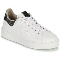 Zapatos Mujer Zapatillas bajas Victoria UTOPIA GLITTER Blanco / Marrón