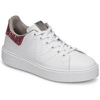 Zapatos Mujer Zapatillas bajas Victoria UTOPIA GLITTER Blanco / Rosa
