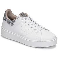 Zapatos Mujer Zapatillas bajas Victoria UTOPIA GLITTER Blanco / Plata