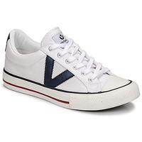 Zapatos Zapatillas bajas Victoria TRIBU LONA CONTRASTE Blanco / Azul