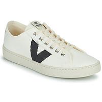 Zapatos Mujer Zapatillas bajas Victoria BERLIN LONA GRUESA Blanco / Azul