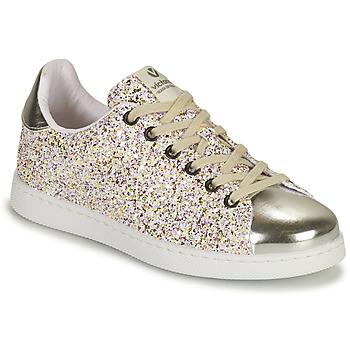 Zapatos Niña Zapatillas bajas Victoria TENIS GLITTER Plata