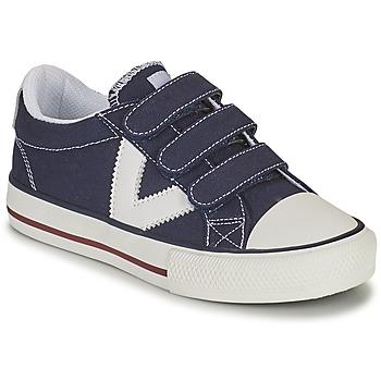 Zapatos Niño Zapatillas bajas Victoria TRIBU TIRAS LONA Azul