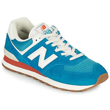 Zapatos Hombre Zapatillas bajas New Balance 574 Azul / Blanco