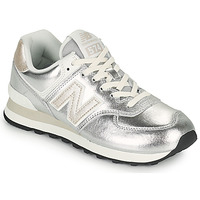 Zapatos Mujer Zapatillas bajas New Balance 574 Plata