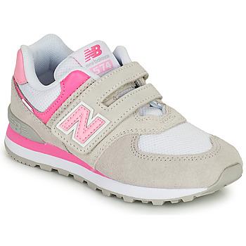 Zapatos Niña Zapatillas bajas New Balance 574 Gris / Rosa