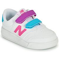 Zapatos Niña Zapatillas bajas New Balance COURT Blanco / Rosa
