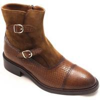 Zapatos Mujer Botines Calce 820-PI Marrón