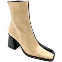 Zapatos Mujer Botines Alohas BOTIN CHAROL  TACON 7 CM. 37 NEGRO-BEIG NEGRO-BEIG