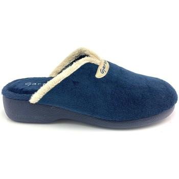 Zapatos Mujer Pantuflas Garzon 3721 TERCIOPELO AZUL AZUL