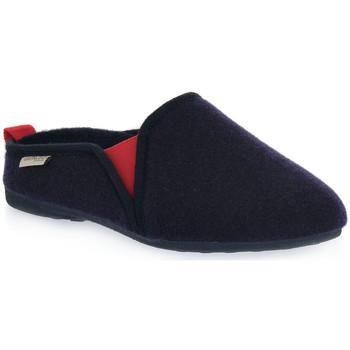 Zapatos Hombre Pantuflas Grunland NAVY ADRI Blu