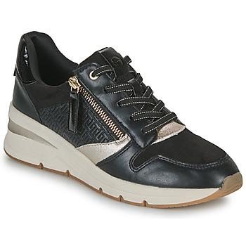 Zapatos Mujer Zapatillas bajas Tamaris REA Negro / Oro