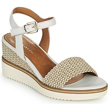 Zapatos Mujer Sandalias Tamaris ALIS Blanco / Beige