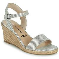 Zapatos Mujer Sandalias Tamaris LIVIAN Marino / Blanco