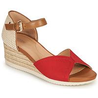 Zapatos Mujer Sandalias Geox D ISCHIA CORDA D Rojo / Cognac