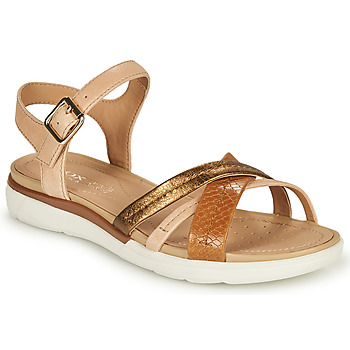 Zapatos Mujer Sandalias Geox D SANDAL HIVER A Beige / Bronce