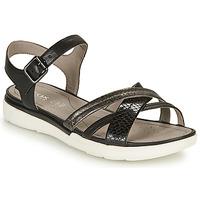 Zapatos Mujer Sandalias Geox D SANDAL HIVER A Negro / Plata