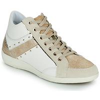 Zapatos Mujer Zapatillas altas Geox D MYRIA G Blanco / Beige