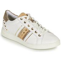 Zapatos Mujer Zapatillas bajas Geox D JAYSEN A Blanco / Oro