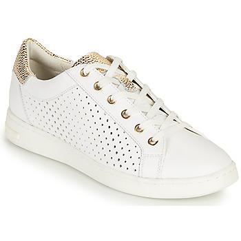 Zapatos Mujer Zapatillas bajas Geox D JAYSEN B Blanco / Oro