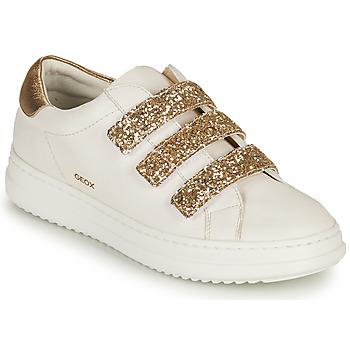 Zapatos Mujer Zapatillas bajas Geox D PONTOISE C Blanco / Oro