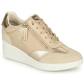 Zapatos Mujer Zapatillas altas Geox D STARDUST B Beige