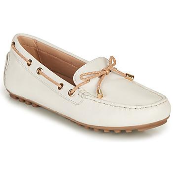 Zapatos Mujer Mocasín Geox D LEELYAN C Blanco / Beige