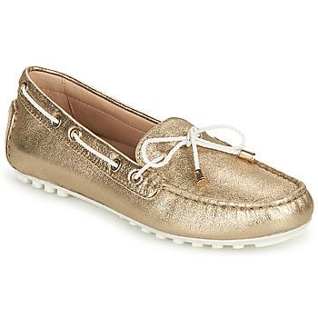Zapatos Mujer Mocasín Geox D LEELYAN C Oro / Blanco