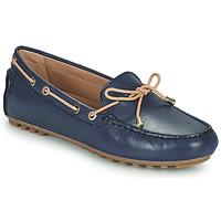 Zapatos Mujer Mocasín Geox D LEELYAN C Azul / Beige