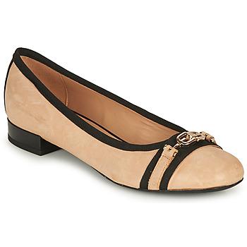 Zapatos Mujer Bailarinas-manoletinas Geox D WISTREY D Beige / Negro