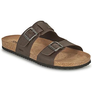 Zapatos Hombre Zuecos (Mules) Geox U SANDAL GHITA B Marrón