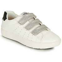 Zapatos Niña Zapatillas bajas Geox J SILENEX GIRL B Blanco / Plata / Negro