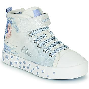 Zapatos Niña Zapatillas altas Geox JR CIAK GIRL D Blanco / Azul
