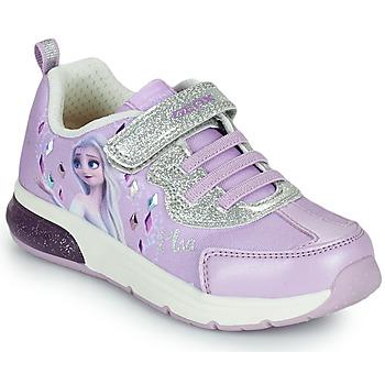 Zapatos Niña Zapatillas bajas Geox SPACECLUB GIRL Violeta