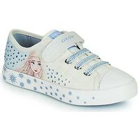 Zapatos Niña Zapatillas bajas Geox JR CIAK GIRL Blanco / Azul