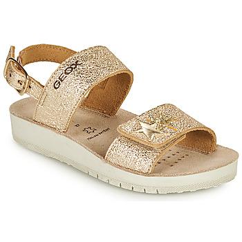 Zapatos Niña Sandalias Geox SANDAL COSTAREI GI Oro