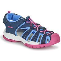 Zapatos Niña Sandalias de deporte Geox BOREALIS GIRL Azul / Rosa