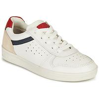 Zapatos Niño Zapatillas bajas Geox J DJROCK BOY A Blanco / Marino / Rojo