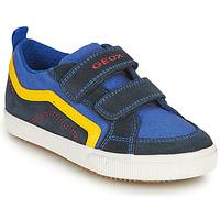 Zapatos Niño Zapatillas bajas Geox ALONISSO BOY Marino / Amarillo