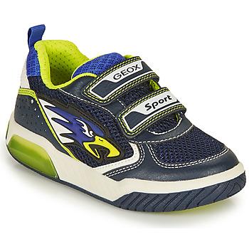 Zapatos Niño Zapatillas bajas Geox INEK BOY Marino / Amarillo
