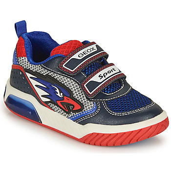 Zapatos Niño Zapatillas bajas Geox J INEK BOY B Azul / Rojo