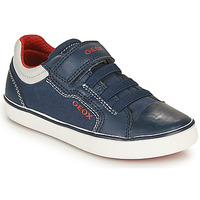 Zapatos Niño Zapatillas bajas Geox GISLI BOY Marino / Rojo