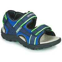 Zapatos Niño Sandalias de deporte Geox JR SANDAL STRADA Azul / Verde