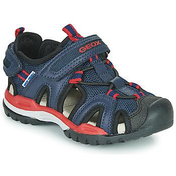 Zapatos Niño Sandalias de deporte Geox BOREALIS BOY Marino / Rojo
