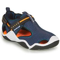 Zapatos Niño Sandalias de deporte Geox JR WADER Marino / Naranja