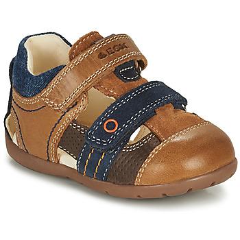Zapatos Niño Sandalias Geox KAYTAN Marrón / Marino