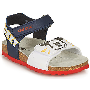 Zapatos Niño Sandalias Geox SANDAL CHALKI BOY Marino / Blanco