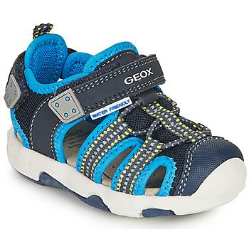 Zapatos Niño Sandalias de deporte Geox SANDAL MULTY BOY Azul